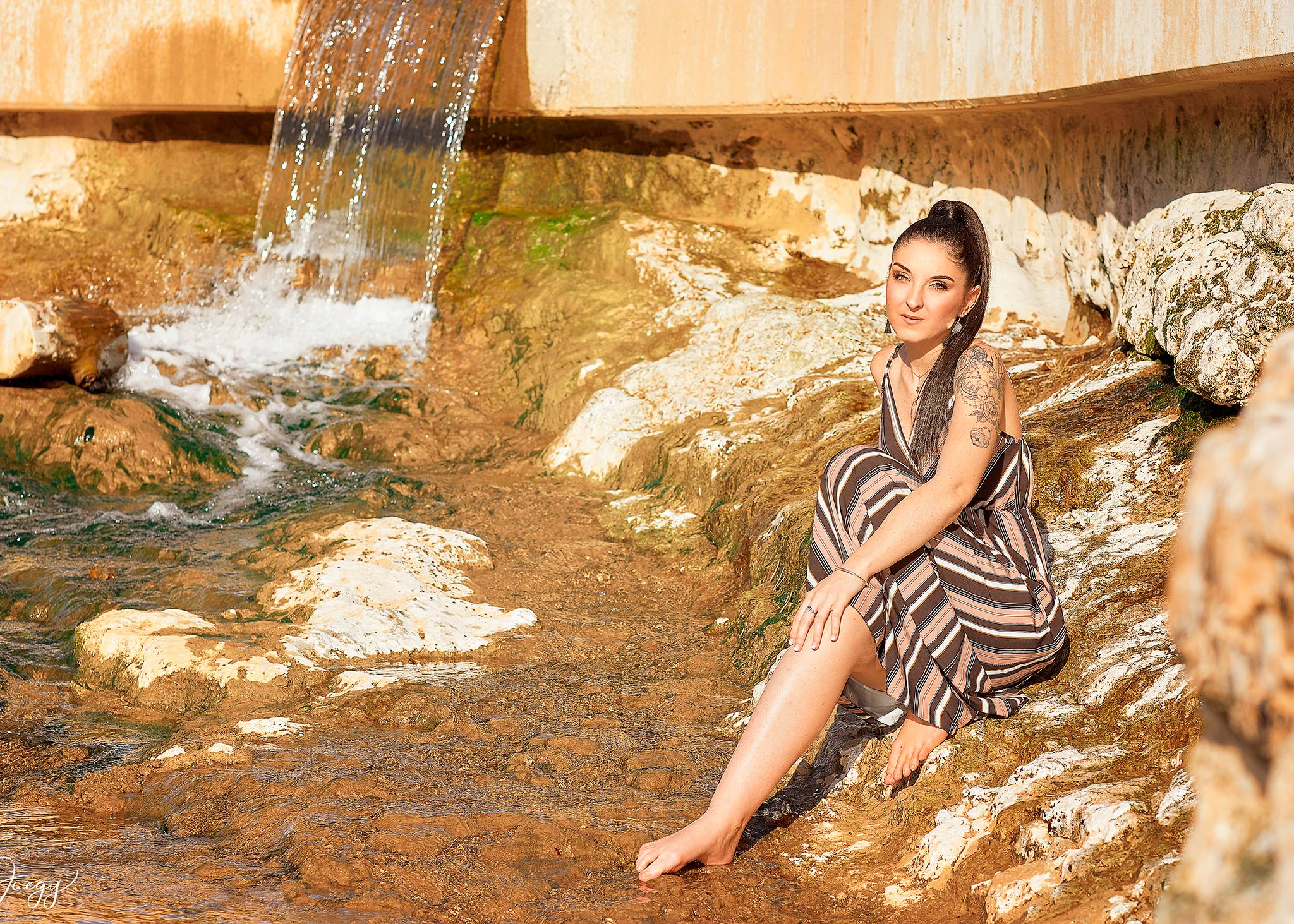 femme eau nature